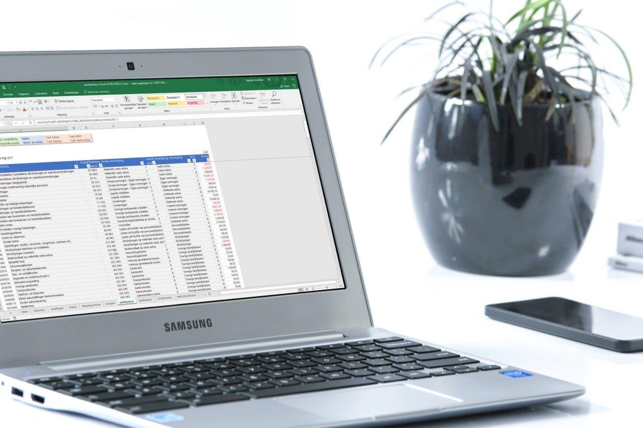 Hoe werkt Jaarrekening in Excel?